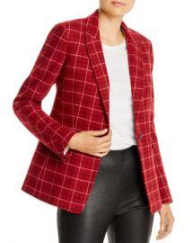 rag  amp  bone Hazel Wool-Blend Checkered Blazer Women - Bloomingdale s at Bloomingdales