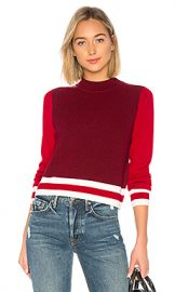 rag  amp  bone JEAN Dean Mock Neck Sweater in Red from Revolve com at Revolve