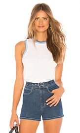 rag  amp  bone JEAN Jolie Tank in Bright White from Revolve com at Revolve