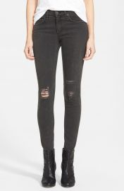 rag  amp  bone JEAN Shredded Skinny Jeans  Rock With Holes    Nordstrom at Nordstrom