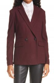 rag  amp  bone Leon Contrast Panel Wool Jersey Jacket   Nordstrom at Nordstrom