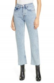 rag  amp  bone Maya High Waist Ankle Straight Leg Jeans  Glen Oaks    Nordstrom at Nordstrom