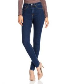 rag  amp  bone Nina High-Rise Skinny Jeans in Marine Blue  Women - Bloomingdale s at Bloomingdales
