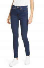 rag  amp  bone Nina High Waist Skinny Jeans  Marine Blue    Nordstrom at Nordstrom
