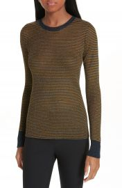 rag  amp  bone Raina Metallic Stripe Sweater at Nordstrom