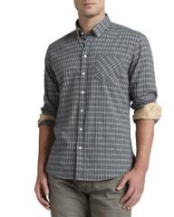 rag and boneJEAN Oxford Check Dress Shirt Gray at Neiman Marcus