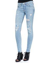rag and boneJEAN Skinny La Costa Repair Jeans at Neiman Marcus