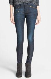 rag andamp boneJEAN Zip Detail Skinny Jeans at Nordstrom