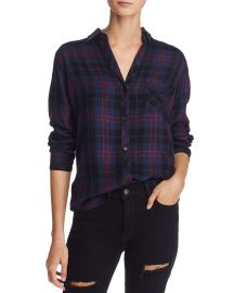 rails Hunter Midnight Merlot Gold Flannel Shirt at Bloomingdales