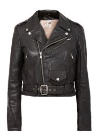 re done Moto Racer distressed leather biker jacket at Net A Porter
