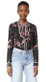 re named Floral Tie Neck Blouse at Shopbop