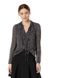 rebecca Taylor  Long Sleeve Silk Top at Amazon