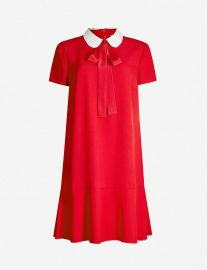 red valentino crepe dress at Selfridges