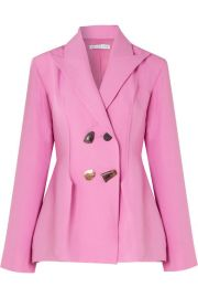 rejina pyo Nicole double-breasted woven blazer at Net A Porter
