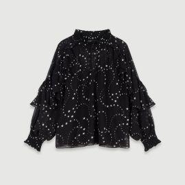 retro star blouse at Maje