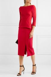 roland mouret Ardingly crepe peplum dress at Net A Porter