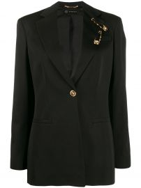 safety pin detail blazer at Farfetch