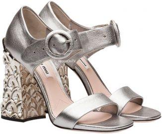 sandals at Miu Miu