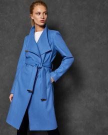 sandra MIDI WOOL WRAP COAT at Ted Baker