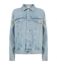 sandro Bead Embellished Denim Jacket at Harrods