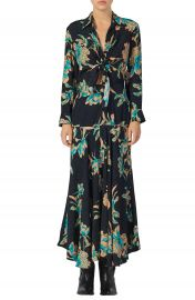 sandro Blaire Floral Print Long Sleeve Dress   Nordstrom at Nordstrom