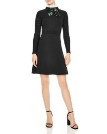 sandro Clemence Tie-Neck A-Line Dress at Bloomingdales