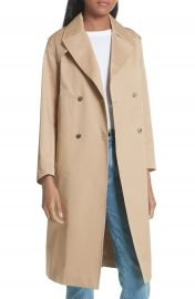 sandro Emastic Laced Back Trench Coat   Nordstrom at Nordstrom