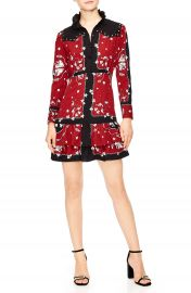sandro Grommet Detail Mini Dress at Nordstrom
