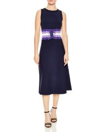 sandro Kimiko Corset-Detail Midi Dress at Bloomingdales