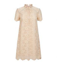 sandro Lace Mini Dress at Harrods