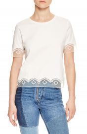 sandro Lace Trim Tee   Nordstrom at Nordstrom