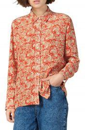sandro Lanni Paisley Silk Shirt   Nordstrom at Nordstrom