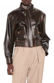 sandro Leather Bomber Jacket   Nordstrom at Nordstrom
