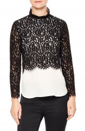 sandro Malia Lace Top at Nordstrom