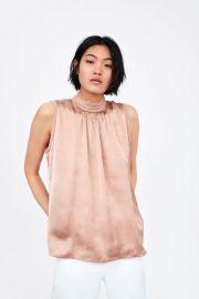 satin blouse zara at Zara