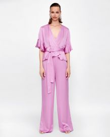 satin crossover blouse at Zara