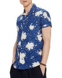 scotch soda Paint Splatter-Print Regular Fit Short-Sleeve Shirt at Bloomingdales