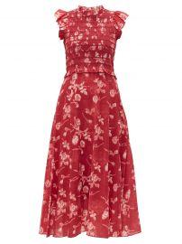 sea Monet shirred floral-print cotton midi dress at Matches