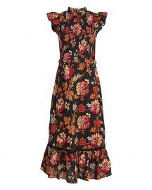 sea Pascale Smocked Cotton Midi Dress at Intermix
