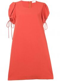 see by chloe puff-sleeve dress at Farfetch