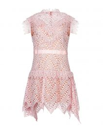 self portrait Abstract Triangle Lace Dress at Yoox
