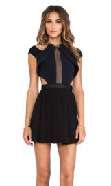self-portrait Chained-Up Dress in Black from Revolve com at Revolve