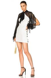 self-portrait Monochrome Crepe Mini Dress in Black   White   FWRD at Forward