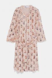 sequin coat at Zara