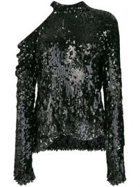 sequin-embellished top at Farfetch
