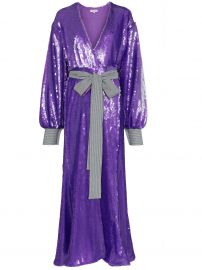 sequin embellished maxi robe dress at Farfetch