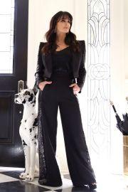 sequin suit set at Kyle x Shahida