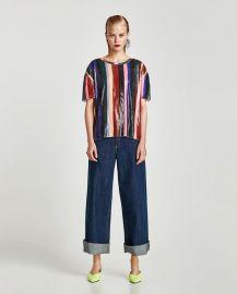 sequinned t-shirt at Zara