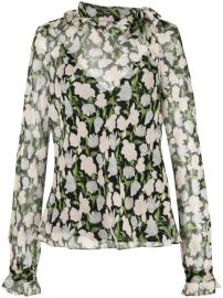 sheer floral blouse at Farfetch