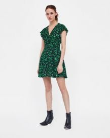 short floral print dress at Zara